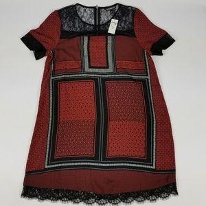 NWT Express Flowy Dress with Lace Size S